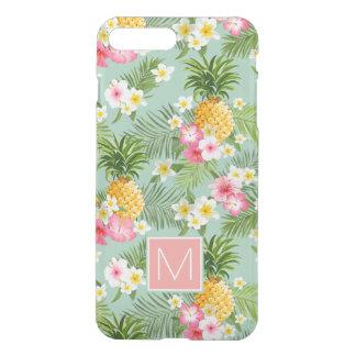 Coque iPhone 7 Plus Les fleurs et les ananas tropicaux   ajoutent