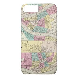 Coque iPhone 7 Plus Les villes de Pittsburgh Allegheny Cincinnati