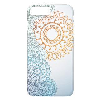 Coque iPhone 7 Plus Lever de soleil détaillé d'abrégé sur henné