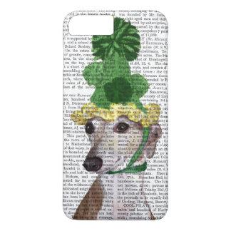 Coque iPhone 7 Plus Lévrier dans le casquette tricoté par vert 2