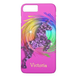 Coque iPhone 7 Plus Licorne à la mode d'arc-en-ciel d'amusement
