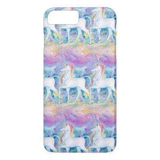 Coque iPhone 7 Plus Licornes d'aquarelle