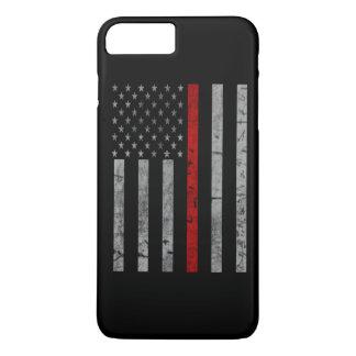 Coque iPhone 7 Plus Ligne rouge mince drapeau