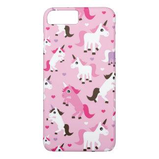 Coque iPhone 7 Plus l'illustration de licorne badine l'arrière - plan