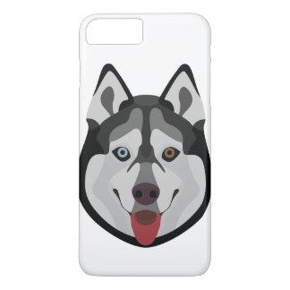Coque iPhone 7 Plus L'illustration poursuit le chien de traîneau