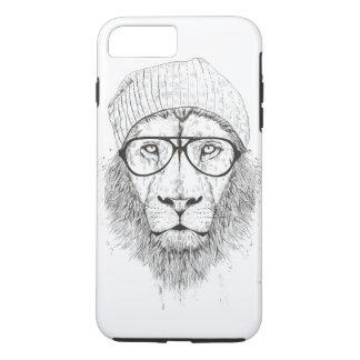 Coque iPhone 7 Plus Lion frais (noir et blanc)