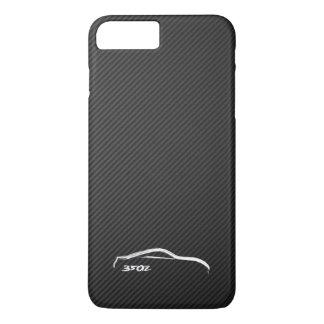 Coque iPhone 7 Plus Logo blanc de silhouette de Nissan 350Z