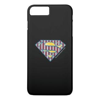 Coque iPhone 7 Plus Logo rayé du S-Bouclier | de Superman