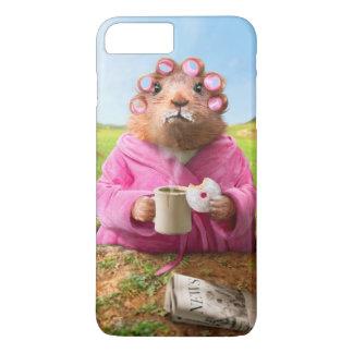 Coque iPhone 7 Plus Matin Groundhog avec le beignet et le café de
