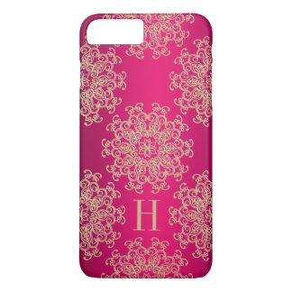Coque iPhone 7 Plus Médaillon exotique décoré d'un monogramme de