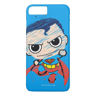 Coque iPhone 7 Plus Mini croquis de Superman - vol