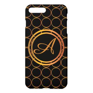 Coque iPhone 7 Plus Monogramme d'anneaux d'or