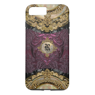 Coque iPhone 7 Plus Monogramme Girly d'élégance de Chalchadoriz plus