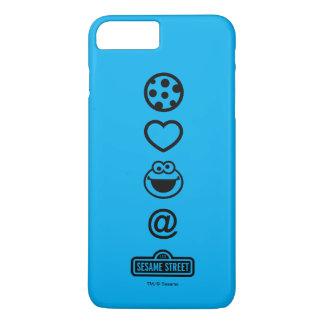 Coque iPhone 7 Plus Monstre de biscuit d'amour de biscuit