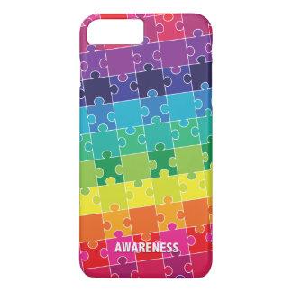 Coque iPhone 7 Plus Morceaux colorés de puzzle de sensibilisation sur