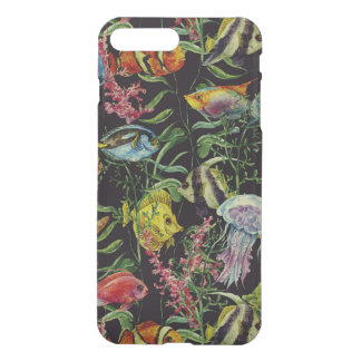 Coque iPhone 7 Plus Motif 1 de vie marine d'aquarelle