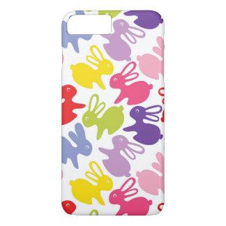 Coque iPhone 7 Plus motif avec des lapins de Pâques