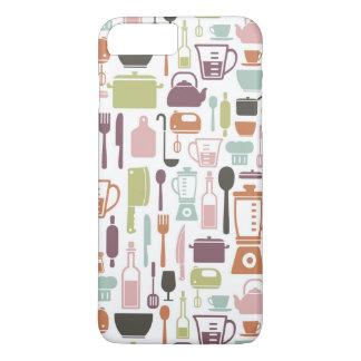 Coque iPhone 7 Plus Motif avec les icônes colorées de cuisine