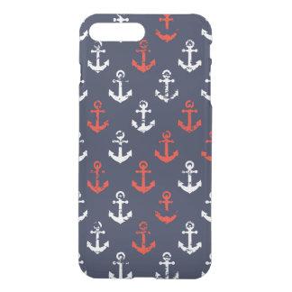 Coque iPhone 7 Plus Motif blanc et bleu rouge de marine