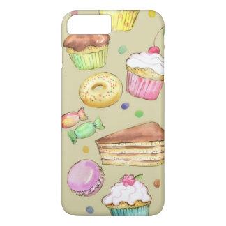 Coque iPhone 7 Plus Motif d'aquarelle avec des bonbons