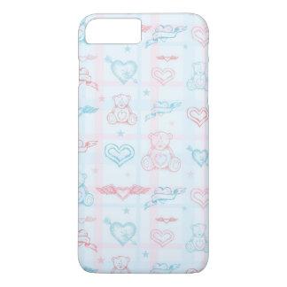 Coque iPhone 7 Plus motif de bébé avec l'ours de nounours