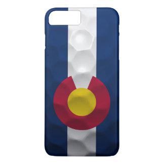 Coque iPhone 7 Plus Motif de boule de golf de drapeau du Colorado