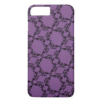 Coque iPhone 7 Plus Motif de damassé//purple coloré