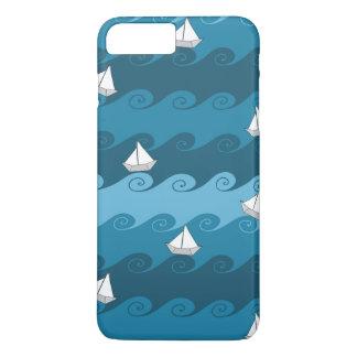 Coque iPhone 7 Plus Motif de papier de bateaux