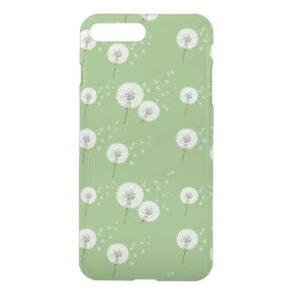 Coque iPhone 7 Plus Motif de pissenlit sur l'arrière - plan vert