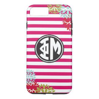 Coque iPhone 7 Plus Motif de rayure de monogramme de la MU | de phi