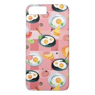 Coque iPhone 7 Plus Motif de tomate et d'oeufs au plat