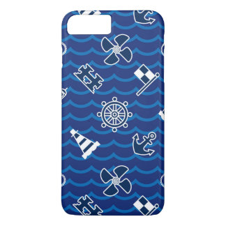 Coque iPhone 7 Plus Motif de vagues nautique mignon