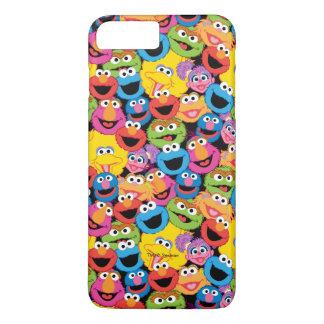 Coque iPhone 7 Plus Motif de visages de caractère de Sesame Street