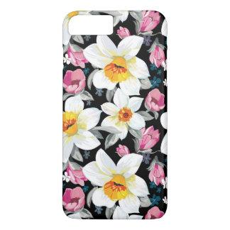 Coque iPhone 7 Plus Motif d'élégance avec des fleurs de narcisse