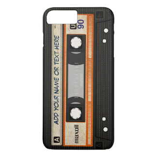 Coque iPhone 7 Plus Motif d'enregistreur à cassettes de musique de la