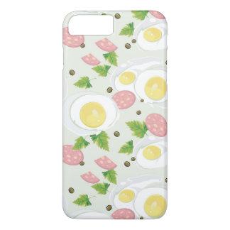 Coque iPhone 7 Plus Motif d'oeufs et de saucisse