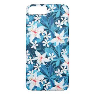 Coque iPhone 7 Plus Motif floral de ketmie tropicale