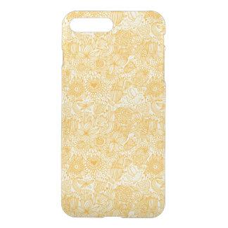 Coque iPhone 7 Plus Motif floral d'été dans des couleurs chaudes