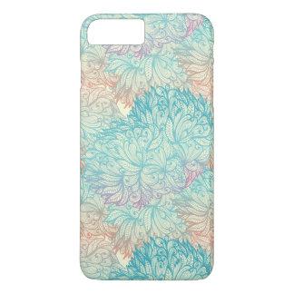 Coque iPhone 7 Plus Motif floral multicolore de griffonnage