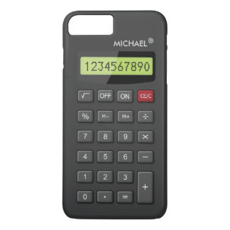 Coque iPhone 7 Plus Motif Geeky drôle de calculatrice personnalisé