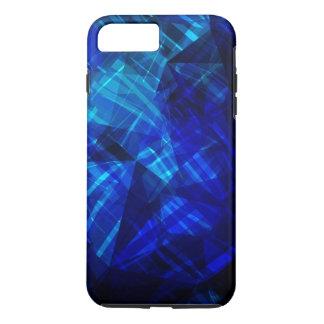 Coque iPhone 7 Plus Motif géométrique de glace bleue fraîche