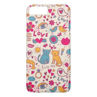 Coque iPhone 7 Plus Motif romantique coloré