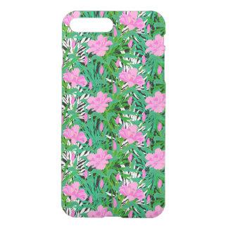 Coque iPhone 7 Plus Motif tropical avec des fleurs de jungle
