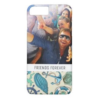 Coque iPhone 7 Plus Motif turquoise | d'animaux de mer votre photo et