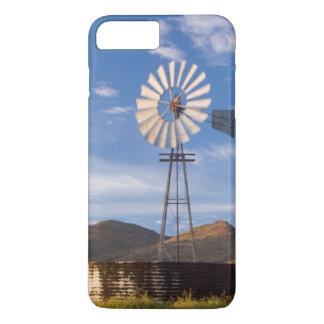 Coque iPhone 7 Plus Moulin à vent et barrage dans le Karoo au lever de