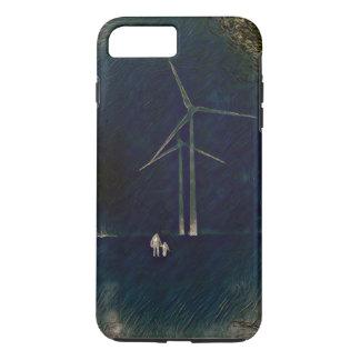 Coque iPhone 7 Plus Moulins à vent de cas abstrait artistique de