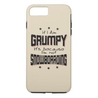 Coque iPhone 7 Plus NE PAS FAIRE DU SURF DES NEIGES GRINCHEUX (noir)