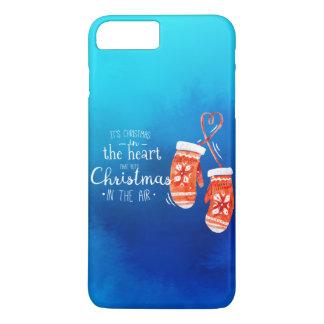 Coque iPhone 7 Plus Noël élégant dans le cas de téléphone du coeur |