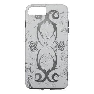 Coque iPhone 7 Plus Noir tribal frais de tatouage sur les biens