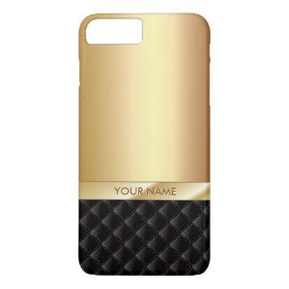Coque iPhone 7 Plus Nom de luxe royal de coutume d'or